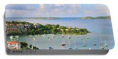 Scenic Overlook Of Cruz Bay St. John Usvi Portable Battery Charger by Roupen  Baker