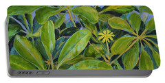 Schefflera-right View Portable Battery Charger by Gail Kent