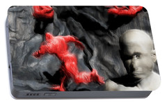 Portable Battery Charger featuring the digital art Schizophrenic Lucidity by John Alexander