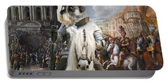 Schnauzer Art - A Siege The Sack Of Rome   Portable Battery Charger