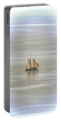 Schooner 1 Portable Battery Charger by Joe Faherty