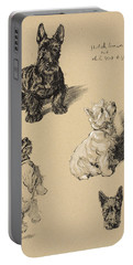 Scotch Terrier And White Westie Portable Battery Charger