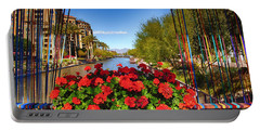 Scottsdale Waterfront Portable Battery Charger by Fred Larson