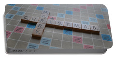 Scrabble Merry Christmas Portable Battery Charger