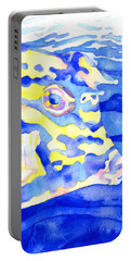 Scrawled Cowfish Portrait Portable Battery Charger