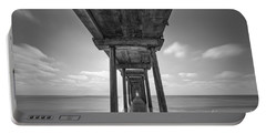Scripps Pier La Jolla Long Exposure Bw Portable Battery Charger