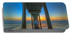 Scripps Pier Sunset Portable Battery Charger by Michael Ver Sprill