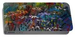 Portable Battery Charger featuring the painting Sea Garden by John Williams