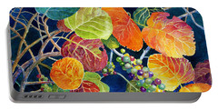 Portable Battery Charger featuring the painting Sea Grapes II by Roger Rockefeller