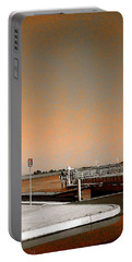 Sea Gulls Watching Over The Wetlands In Orange Portable Battery Charger by Amazing Photographs AKA Christian Wilson