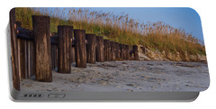 Sea Oats And Pilings Portable Battery Charger