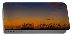 Sea Oats At Twilight Portable Battery Charger