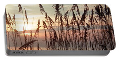 Fabulous Blue Sea Oats Sunrise Portable Battery Charger by Belinda Lee