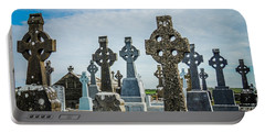 Sea  Of Celtic Crosses Portable Battery Charger