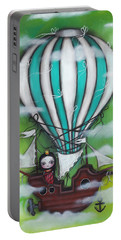 Sea Of Clouds Portable Battery Charger by Abril Andrade Griffith
