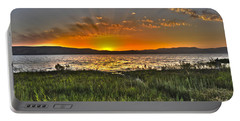 Sea Of Galilee Sunset Portable Battery Charger