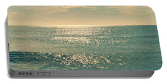 Sea Of Tranquility Portable Battery Charger by Laura Fasulo