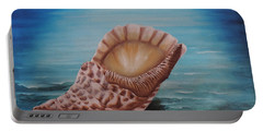 Portable Battery Charger featuring the painting Sea Shell by Dianna Lewis