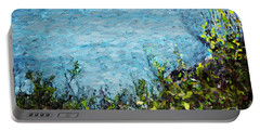 Portable Battery Charger featuring the digital art Sea Shore 1 by David Lane