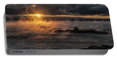 Sea Smoke Sunrise Portable Battery Charger by Marty Saccone