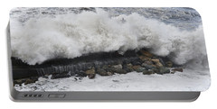 Sea Storm  Portable Battery Charger by Antonio Scarpi