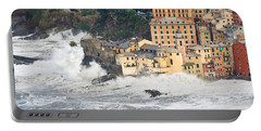 Portable Battery Charger featuring the photograph Sea Storm In Camogli - Italy by Antonio Scarpi