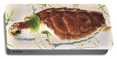 Sea Turtle Art By Sharon Cummings Portable Battery Charger by Sharon Cummings