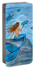 Sea Turtle Friends Portable Battery Charger