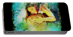 Sea Turtle Love Portable Battery Charger by Absinthe Art By Michelle LeAnn Scott