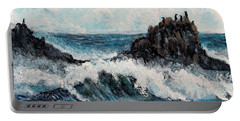 Portable Battery Charger featuring the painting Sea Whisper by Shana Rowe Jackson
