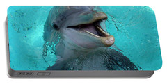 Portable Battery Charger featuring the photograph Sea World Dolphin by David Nicholls