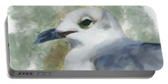 Portable Battery Charger featuring the painting Seagull Closeup by Greg Collins