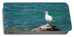Seagull On Rock Portable Battery Charger