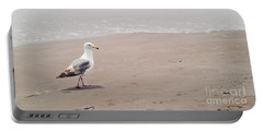 Seagull Strolling Portable Battery Charger by Cindy Garber Iverson