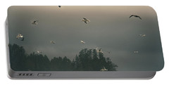 Seagulls In A Storm Portable Battery Charger