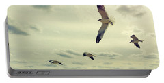Seagulls In Flight Portable Battery Charger