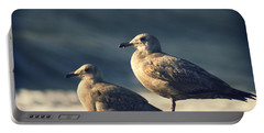 Portable Battery Charger featuring the photograph Seagulls On A Beach by Yulia Kazansky