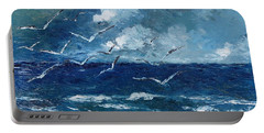 Seagulls Over Adriatic Sea Portable Battery Charger