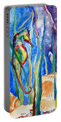 Seahorse And Shells Portable Battery Charger by Carlin Blahnik