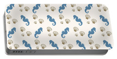 Seahorse And Shells Pattern Portable Battery Charger