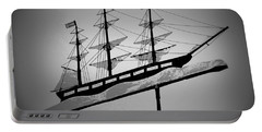 Portable Battery Charger featuring the photograph Seaman's Bethel Weathervane  by Kathy Barney