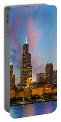 Portable Battery Charger featuring the photograph Sears Tower Sunset by Sebastian Musial