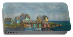 Seascape Boat Paintings Portable Battery Charger