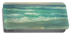 Seascape  Glowing Sunset Portable Battery Charger