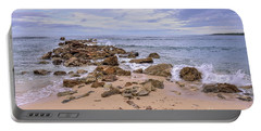 Seascape With Rocks Portable Battery Charger
