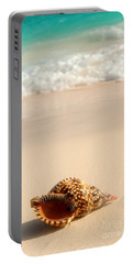 Seashell And Ocean Wave Portable Battery Charger