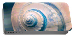 Seashell In Pastel Portable Battery Charger
