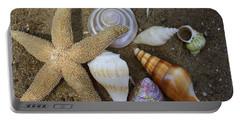 Seashells And Star Fish Portable Battery Charger