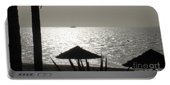Seaside Dinner For Two Portable Battery Charger by Patti Whitten