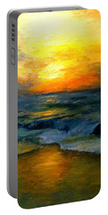 Seaside Sunset Portable Battery Charger by Gail Kirtz